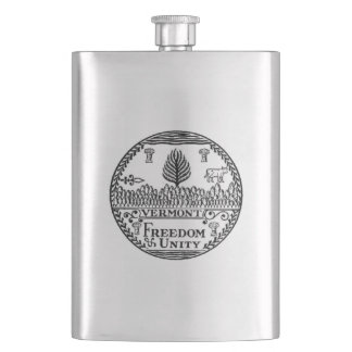 Vermont State Seal Flask