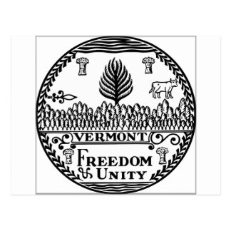 Vermont State Seal Postcard