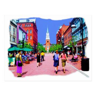 Vermont Street Painting Postcard