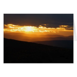 Vermont Sunset Card in 3 sizes