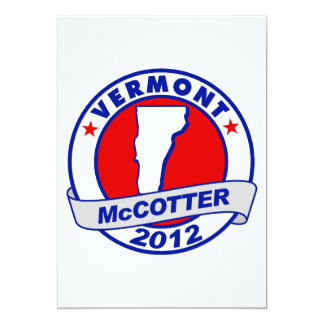 "Vermont Thad McCotter 5"" X 7"" Invitation Card"