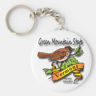 Vermont The Green Mountain State Key Ring