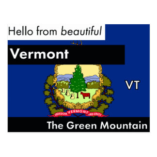 Vermont The Green Mountain State Postcard