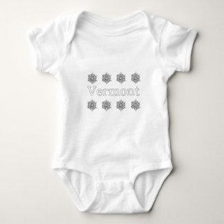 Vermont USA Logo (snowflakes) Baby Bodysuit