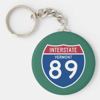 Vermont VT I-89 Interstate Highway Shield - Key Ring