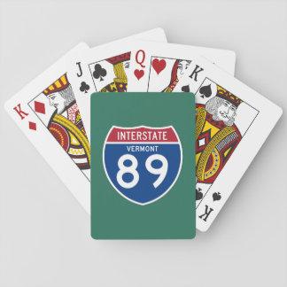 Vermont VT I-89 Interstate Highway Shield - Poker Deck