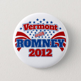 Vermont with Romney 2012 6 Cm Round Badge