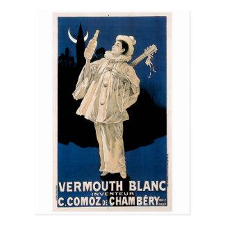 Vermouth Blanc Vintage Drink Ad Art Postcard