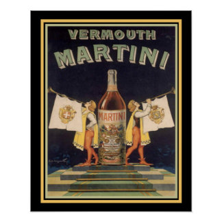 Vermouth Martini Vintage Ad Poster 16 x 20