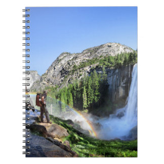 Vernal Fall Hiker and Rainbow - Yosemite Notebook