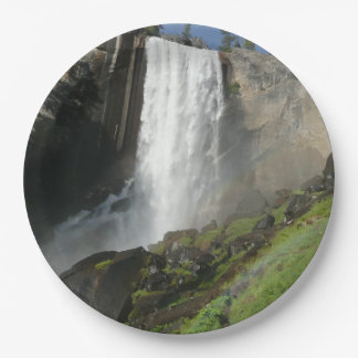 Vernal Falls I in Yosemite National Park Paper Plate