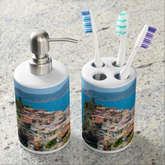 Vernazza Cinque Terre Italy Bathroom Set