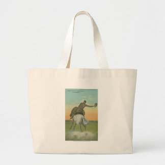 Verne Elliott on High Tower. Large Tote Bag