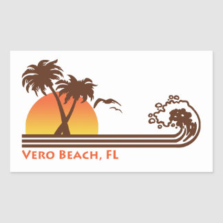 Vero Beach Florida Rectangular Sticker