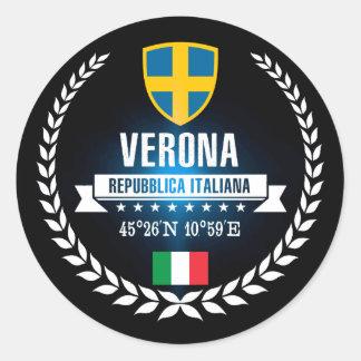 Verona Classic Round Sticker
