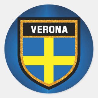 Verona Flag Classic Round Sticker
