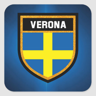 Verona Flag Square Sticker