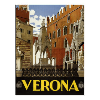 Verona, Italy Vintage style travel postcard