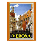 """Verona"" Vintage Italian Travel Poster Postcard"