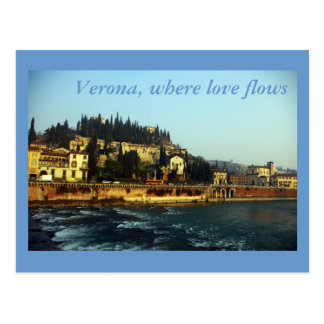 Verona, where love flows postcard