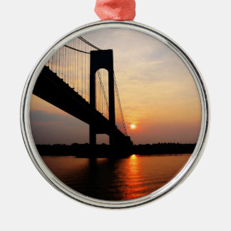 Verrazano Bridge at Dawn Metal Ornament