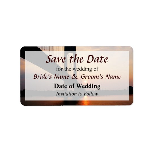 Verrazano Bridge at Dawn Save the Date Address Label