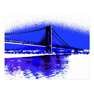 Verrazano Violet Bridge postcard