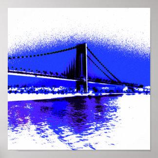 Verrazano Violet Bridge print