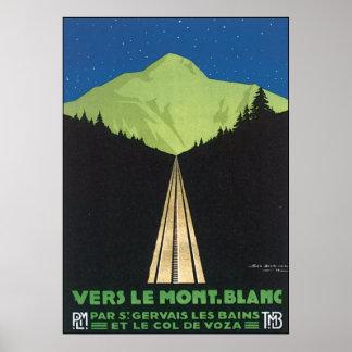 Vers Le Mont. Blanc Poster