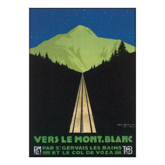Vers Le Mont Blanc Posters