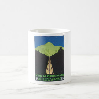 Vers Le Mont. Blanc Vintage Travel Poster Basic White Mug