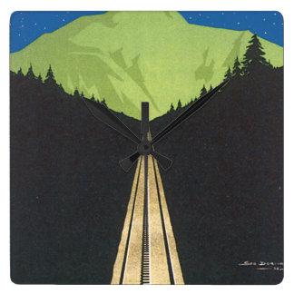 Vers Le Mont. Blanc Vintage Travel Poster Clocks