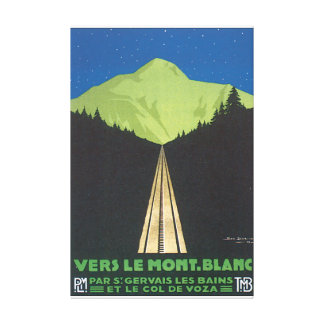 Vers Le Mont. Blanc Vintage Travel Poster Gallery Wrapped Canvas