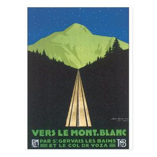 Vers Le Mont. Blanc Vintage Travel Poster Postcard