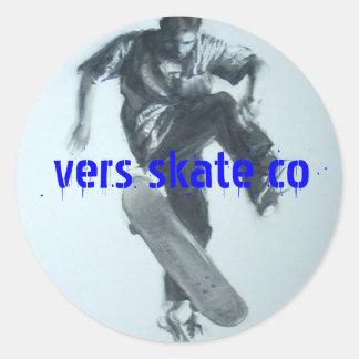 vers, vers skate co round sticker