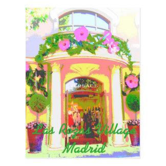 Versace in Rozas Village of Madrid lies down Postcard