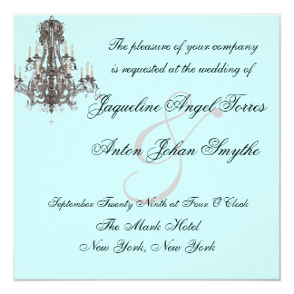 Versailles Chandelier Wedding Invitations