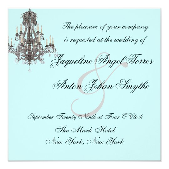 Versailles Chandelier Wedding Invitations