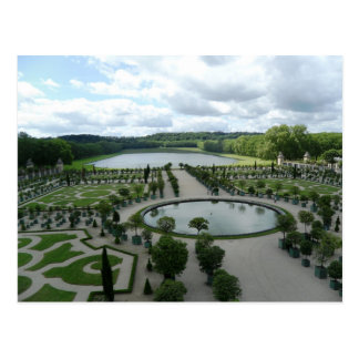 Versailles Gardens Pools Orangerie France PostCard