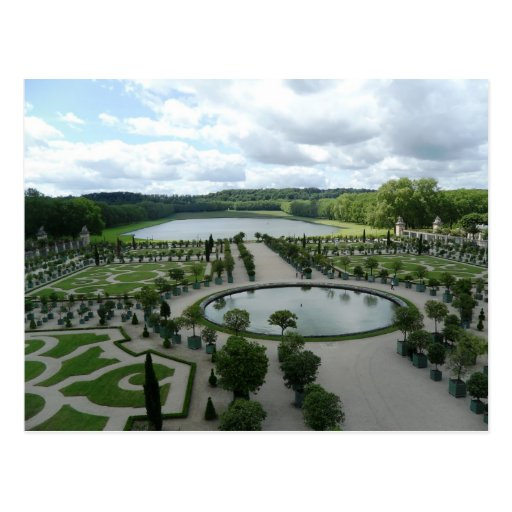 Versailles Gardens Pools Orangerie France PostCard