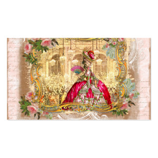 versailles marie golden framing roses pink second pack of standard business cards