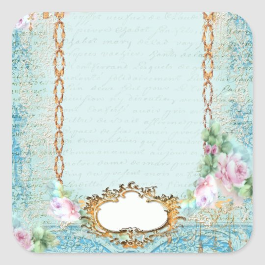 Versailles Pink Roses n Lace Stickers Tags
