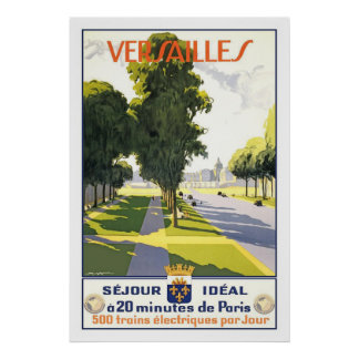 Versailles Vintage French Travel Poster