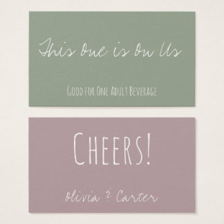 Versatile Drink Tickets in Dusty Rose and Green