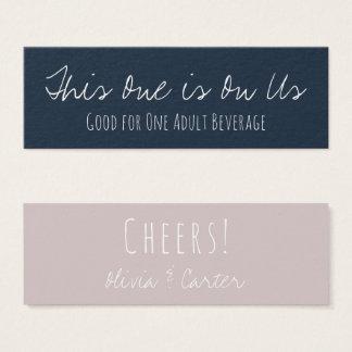 Versatile Drink Tickets in Navy Blue & Mauve