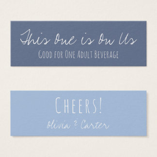 Versatile Drink Tickets in Two-Toned Blues