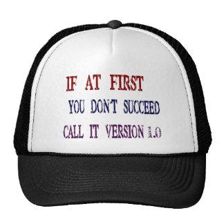 Version 1.0 cap