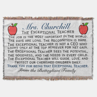 Version 3 EXCEPTIONAL Teacher Thank You Throw