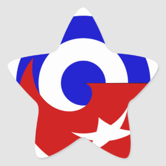 Versions of the flag of Cuba Star Sticker