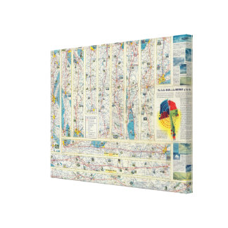 Verso American Airlines system map Canvas Prints